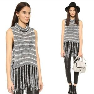 Free People Fringed Sleeveless Sweater